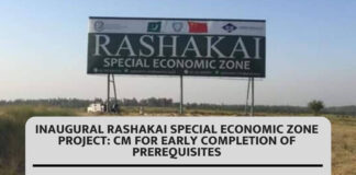 Inaugural Rashakai Special Economic Zone project CM for early completion of prerequisites