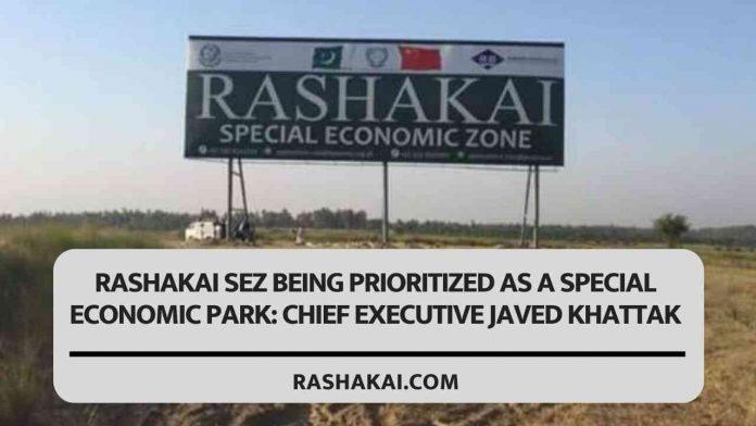 Rashakai SEZ being prioritized as a special economic park: Chief Executive Javed Khattak 1